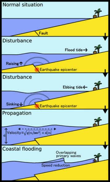 Tsunami: Magnitude of Terror | Causes - Tsunami Formation ...